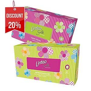 BX200 LINTEO SATIN FACIAL TISSUES 2-PLY