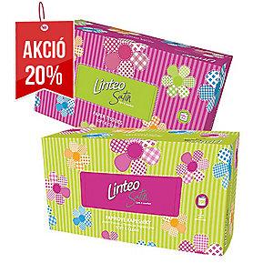 Linteo Satin papírzsebkendő, 2 rétegű, 200 darab/csomag