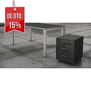 Módulo Ofitres Luxe - gaveta + arquivador - 460 x 600 mm - antracite mate
