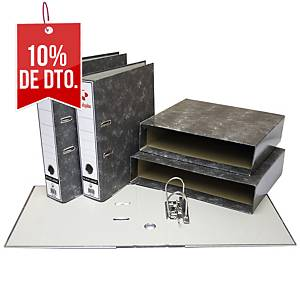 Archivador de palanca Grafoplás - folio - lomo 75 mm - gris jaspeado