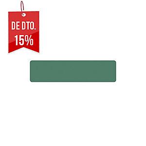 Pack de 10 etiquetas adesivas para chão TARIFOLD forma tira cor verde
