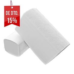 Pack 20 embalagens de toalhas de mãos Amoos - 200 folhas - V - Folha dupla