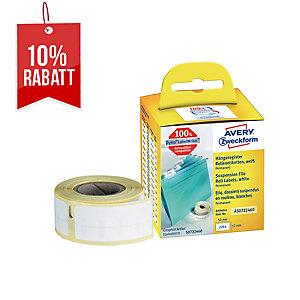 Rollenetiketten Avery Zweckform AS0722460 12x50 mm, weiß, 1 Rolle/220 Etiketten