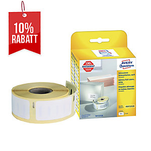 Rollenetiketten Avery Zweckform AS0722520 25x54 mm, weiß, 1 Rolle/500 Etiketten