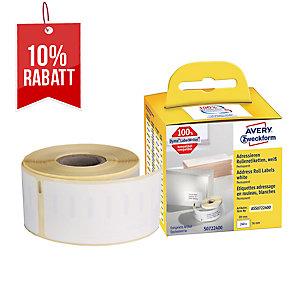 Rollenetiketten Avery Zweckform ASS0722400 36x89 mm, weiß, 1 Rolle/260 Etiketten