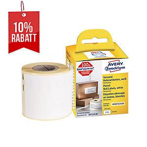 Rollenetiketten Avery Zweckform ASS0722430 54x101 mm, weiß, 1 Rol./110 Etiketten