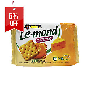 JULIE S LE-MOND CHEDDAR CHEESE PUFF SANDWICH - PACK OF 10
