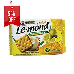 JULIE S LE-MOND LEMON CREAM PUFF SANDWICH - PACK OF 10