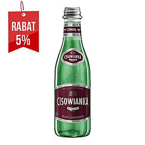 Woda mineralna CISOWIANKA silnie gazowana, zgrzewka 24 szklane butelki x 300 ml