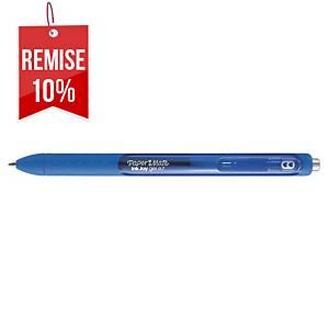 Stylo encre gel Papermate Inkjoy RT - rétractable - pointe moyenne - bleu