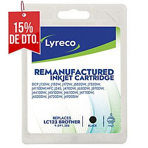 Cartucho de tinta LYRECO compatible con BROTHER LC123 negro