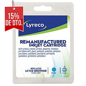 Cartucho de tinta LYRECO compatible con BROTHER LC123 cyan