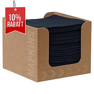 Serviettenspender Dunisoft inkl. Servietten, 20x20 cm, schwarz, Pk. à 50 Stk.