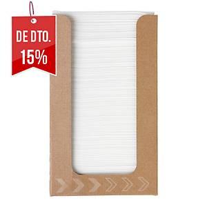 Pacote de 100 guardanapos de papel Duni Dunisoft®- 200 x 200 mm branco