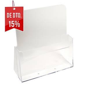 Expositor de secretária Exacompta - A5 - 1 compartimento - transparente
