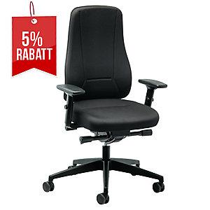 Bürostuhl Prosedia Younico 2456, hohe Rückenlehne, schwarz