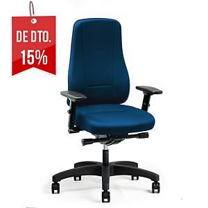 Cadeira com mecanismo sincronizado Prosedia Younico 2456 - azul