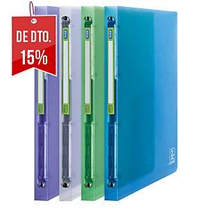 Pack 4 dossiers Elba 2nd Life - A4 - 4 argolas - lombada 20mm - sortido