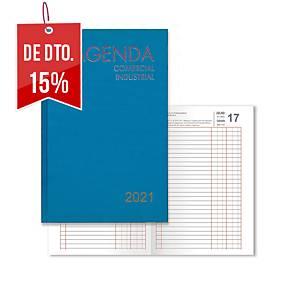 Agenda de escritório COMERCIAL & INDUSTRIAL día página, 185 x 290 mm. Cor azul