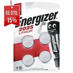 Pack de 4 pilhas-botão de lítio Energizer CR2025