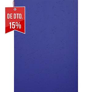 Pack de 100 capas de encadernação Exacompta - A4 - cartão - azul escuro