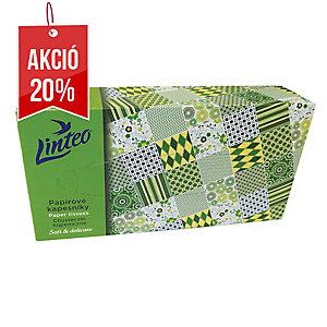 Linteo Satin papírzsebkendő dobozban 100 db