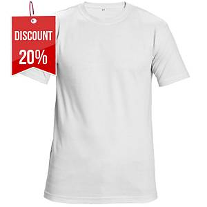 TEESTA T-SHIRT COTTON M WHITE