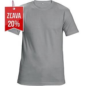 Tričko s krátkym rukávom Cerva Teesta, veľkosť M, sivé