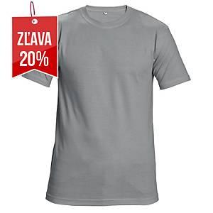 Tričko s krátkym rukávom Cerva Teesta, veľkosť L, sivé