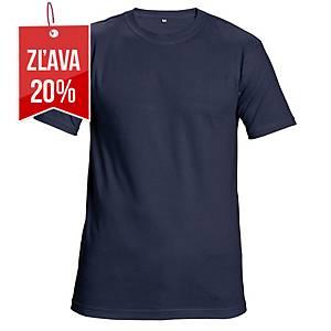 Tričko s krátkym rukávom Cerva Teesta, veľkosť L, tmavomodré