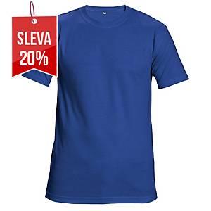 Tričko s krátkým rukávem CERVA TEESTA, velikost L, královská modrá