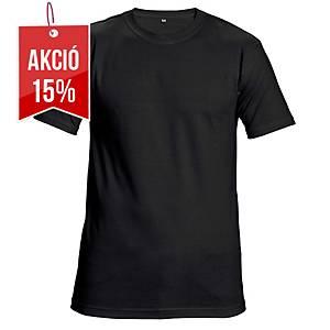 Unisex rövid ujjú póló, pamut, méret: XXL, fekete