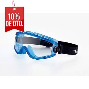 Gafas panorámicas con lente incolora y ventilación indirecta Univet 619.02.01.00