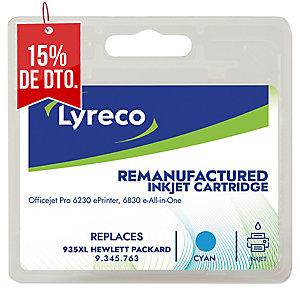 Cartucho de tinta LYRECO compatible con HP C2P24A cyan