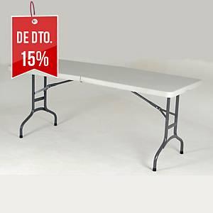 Mesa de catering dobrável - larg. 1800 mm - branco/alumínio