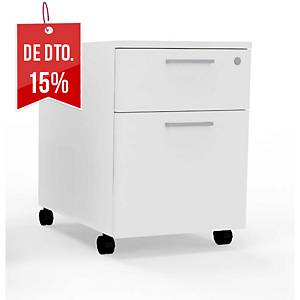 Módulo com arquivador Ofitres - 2 gavetas - 420 x 600 mm - branco