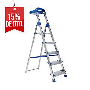 Escalera ZARGES domestica de aluminio de 4 peldaños