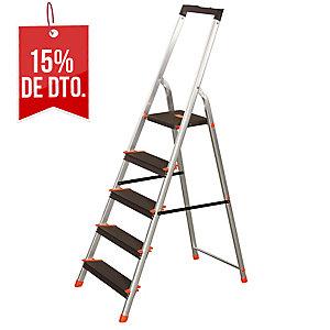 Escalera ZARGES domestica de aluminio de 7 peldaños