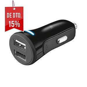 Carregador para o carro Trust - 2 portas USB - preto