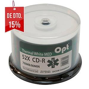 Pack de 50 CD Thermal White MED para impressão térmica laser