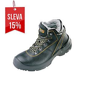 PANDA ORSETTO Zateplená obuv 43 černá/žlutá