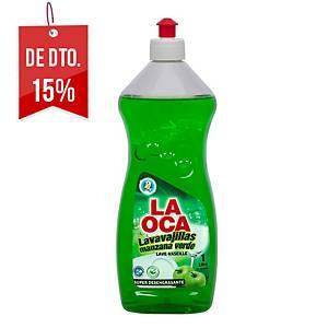 Detergente lava-loiça manual concentrado La Oca - 1 L - aroma a maçã verde