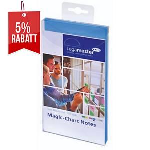 Magic Chart Notes Legamaster 159410, elektrostatisch haftend, 10x20, blau, 100St