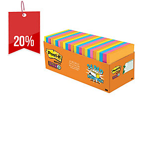 POST-IT SUPER STICKY CABINET PACK 76X76 RIO DE JANEIRO - PACK OF 24
