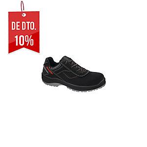 Sapatos segurança PANTER Diamante Link S3 0% metais. Pele flor preta. Tamanho 43