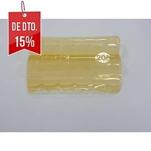 Pack de 100 blísteres para moedas de 0,20 € - laranja