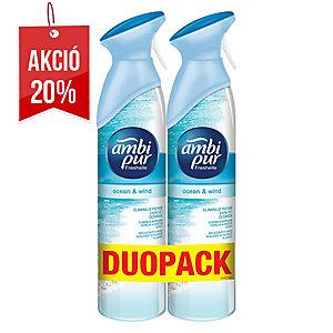 Ambi Pur légfrissítő spray, Ocean&Wind 300 ml, 2 darab/csomag
